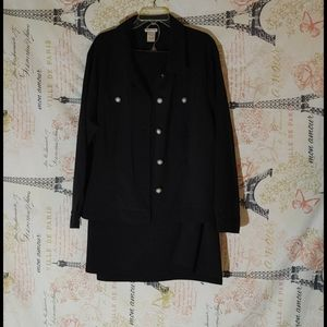 Monroe and Main Black 2pcs Suit with Skirt